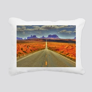Monument Valley Rectangular Canvas Pillow