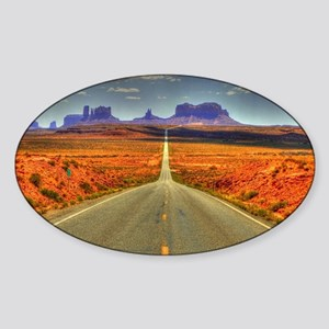 Monument Valley Sticker (Oval)