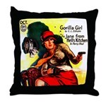Gun Molls Throw Pillow