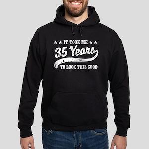 Funny 35th Birthday Hoodie (dark)