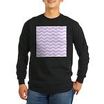 Lilac Purple and white Chevron Long Sleeve T-Shirt