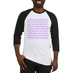 Lilac Purple and white Chevron Baseball Jersey