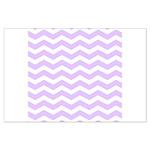 Lilac Purple and white Chevron Poster Art