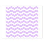 Lilac Purple and white Chevron Poster Design