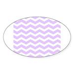 Lilac Purple and white Chevron Sticker