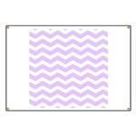 Lilac Purple and white Chevron Banner