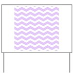 Lilac Purple and white Chevron Yard Sign