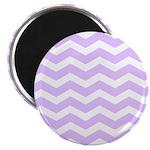 Lilac Purple and white Chevron Magnet