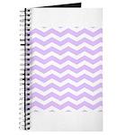 Lilac Purple and white Chevron Journal