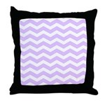 Lilac Purple and white Chevron Throw Pillow