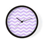 Lilac Purple and white Chevron Wall Clock