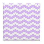 Lilac Purple and white Chevron Tile Coaster