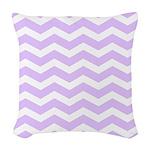 Lilac Purple and white Chevron Woven Throw Pillow
