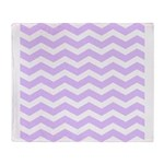 Lilac Purple and white Chevron Throw Blanket