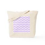 Lilac Purple and white Chevron Tote Bag