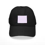 Lilac Purple and white Chevron Baseball Cap