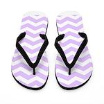 Lilac Purple and white Chevron Flip Flops