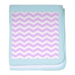 Lilac Purple and white Chevron baby blanket