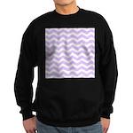 Lilac Purple and white Chevron Jumper Sweater