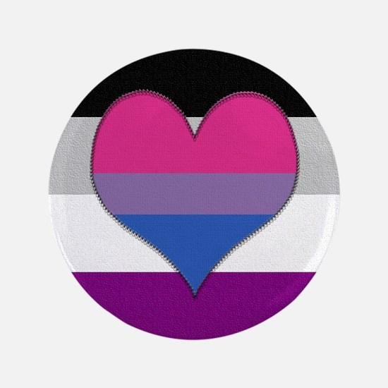 "Biromantic Asexual Heart 3.5"" Button"