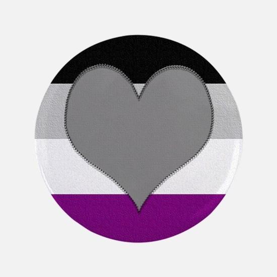 """Grayromantic Asexual Heart 3.5"""" Button"""