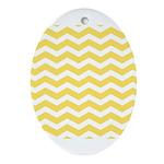 Yellow and white Chevron Ornament (Oval)