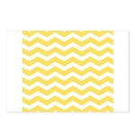 Yellow and white Chevron Postcards (Package of 8)