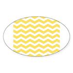 Yellow and white Chevron Sticker