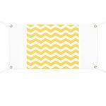 Yellow and white Chevron Banner