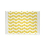 Yellow and white Chevron Rectangle Magnet (10 pack