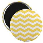 Yellow and white Chevron Magnet