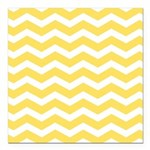 Yellow and white Chevron Square Car Magnet 3