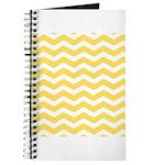 Yellow and white Chevron Journal