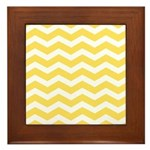 Yellow and white Chevron Framed Tile