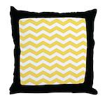Yellow and white Chevron Throw Pillow