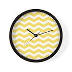 Yellow and white Chevron Wall Clock