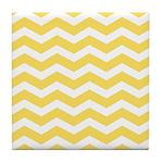 Yellow and white Chevron Tile Coaster