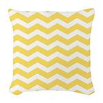Yellow and white Chevron Woven Throw Pillow