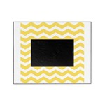 Yellow and white Chevron Picture Frame