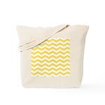 Yellow and white Chevron Tote Bag