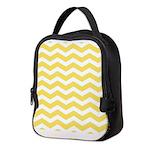 Yellow and white Chevron Neoprene Lunch Bag