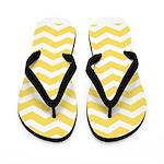 Yellow and white Chevron Flip Flops