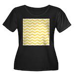 Yellow and white Chevron Plus Size T-Shirt