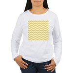 Yellow and white Chevron Long Sleeve T-Shirt