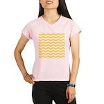 Yellow and white Chevron Peformance Dry T-Shirt