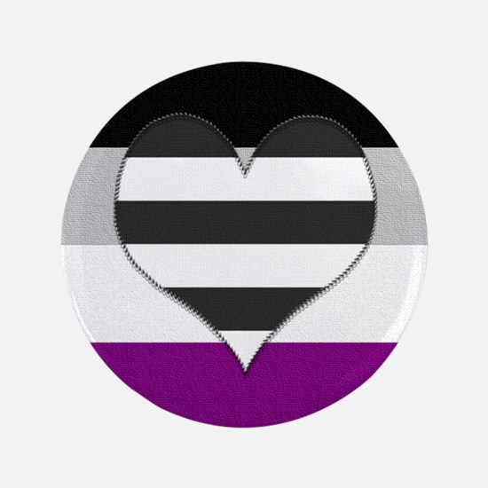 "Heteroromantic Asexual Heart 3.5"" Button"