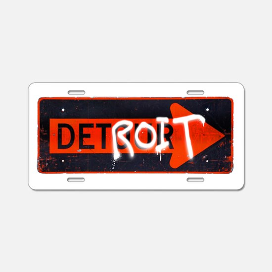 Detroit Detour Aluminum License Plate