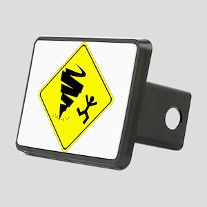 Tornado Caution Sign Hitch Cover