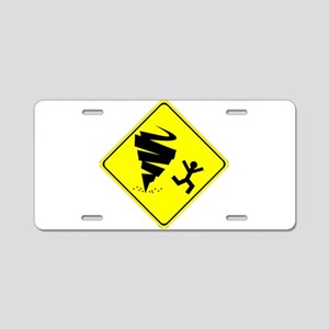 Tornado Caution Sign Aluminum License Plate