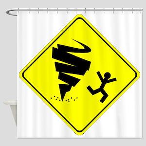 Tornado Caution Sign Shower Curtain